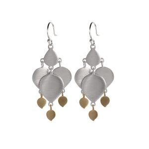Me & Ro Lotus Earrings with Lotus Drops